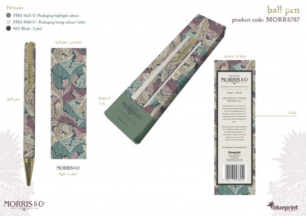 BALLPEN/Rollerpen, Morris & Co.- Acanthus